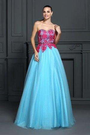 189ca5a4138a Empire Taille Satin Bodenlanges Sittsames Quinceanera Kleid mit Herz- Ausschnitt