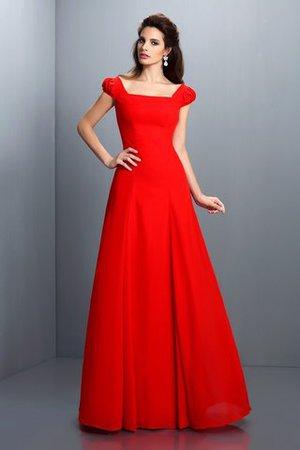 51641a1bd8aa14 A Linie Prinzessin Kurze Ärmeln Sittsames Abendkleid aus Satin