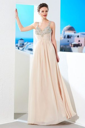 e3ca0402a8a7b9 Reißverschluss Prinzessin Bodenlanges Abendkleid mit Spaghettiträger aus  Chiffon
